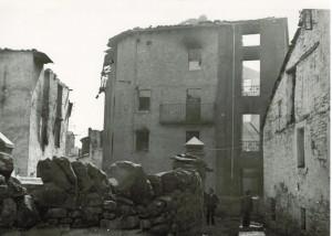 Imagen de Biescas (Huesca), tras la Guerra Civil.