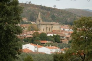 Vista panorámica de Hoyos (Cáceres)
