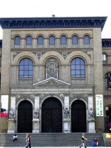 Zaragoza. Fachada de la antigua Facultad de Medicina