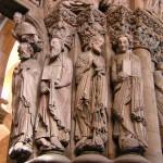 Santiago de Compostela. Apóstoles. Pórtico da Gloria en la Catedral.