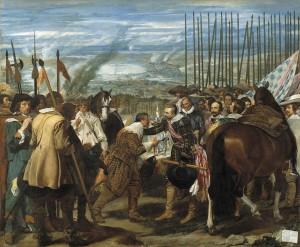 """Cuadro de la Rendición de Breda o de """"las Lanzas"""" de Velázquez. Vía Wikimedia Commons"""
