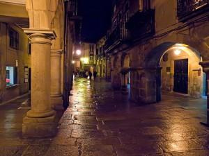 Santiago de Compostela por la noche