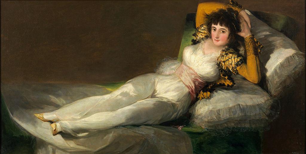 Maja Vestida. Museo del Prado. Francisco Goya [Public domain], via Wikimedia Commons