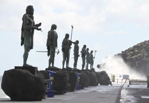 Tenerife. Candelaria. 9 reyes guanches. Por Bjoertvedt