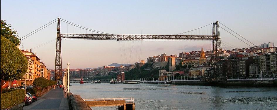 Puente colgante sobre la ría de Bilbao. Por Javier Mediavilla Ezquibela