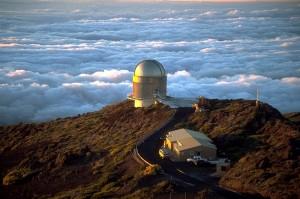 Telescopio en Roque de los Muchachos, Isla de La Palma (Canarias). Por Bob Tubbs