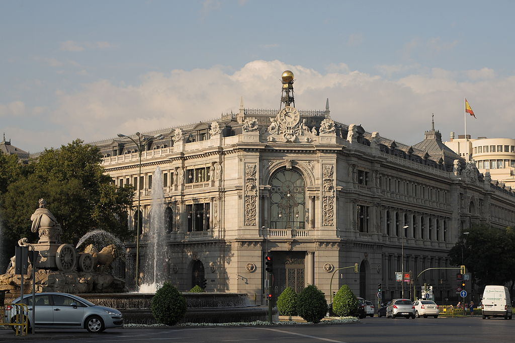 Edificio del Banco de España en la Plaza de Cibeles (Madrid). Por Sanva1959