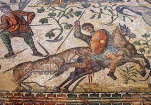 Mosaico de la Villa Romana de La Olmeda en Pedrosa de la Vega (Palencia. Por Valdavia.