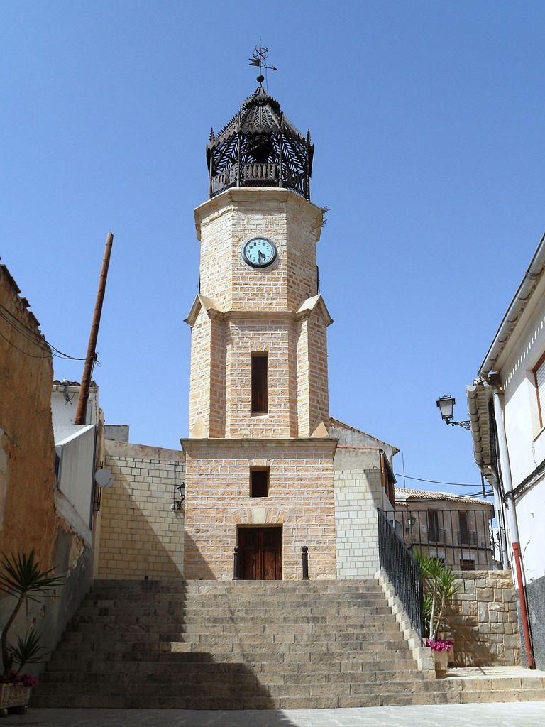Torre del Reloj de Pinoso (Alicante). Por Enrique Íñiguez Rodríguez