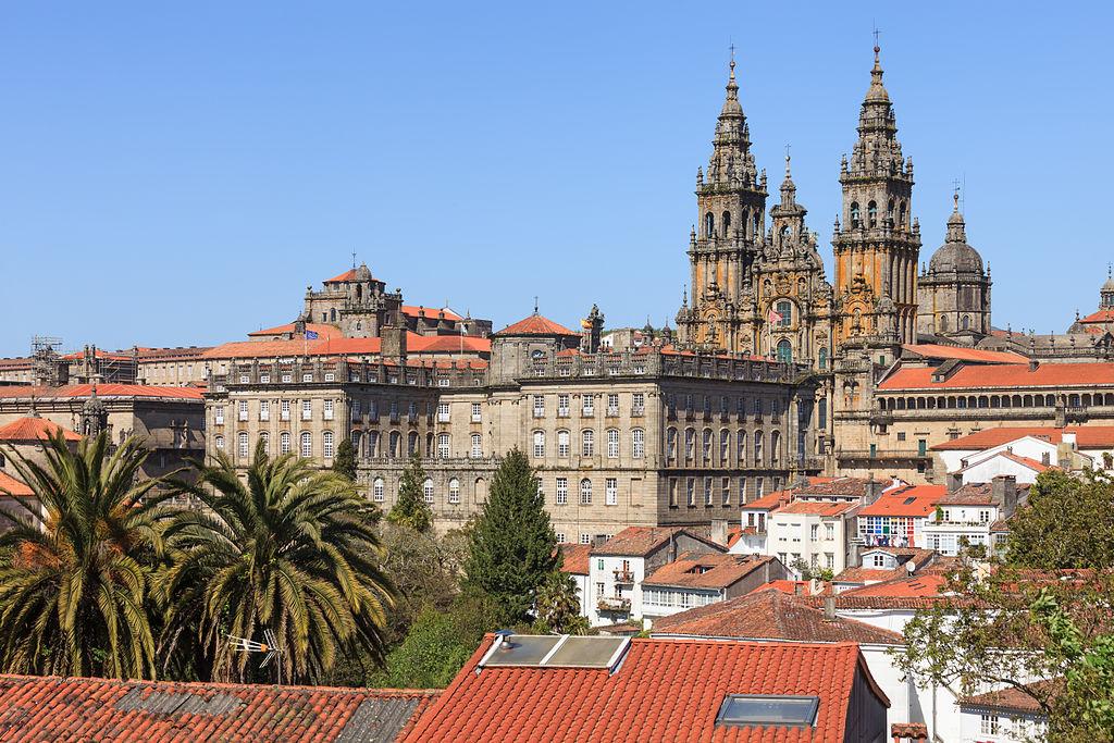 Fachada del Obradoiro de la catedral de Santiago de Compostela. Por Luis Miguel Bugallo Sánchez