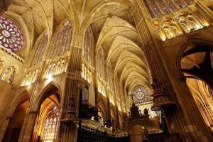 Interior de la Catedral de León. Por Nacho Traseira