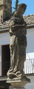 Estatua de Himilce en Baeza.