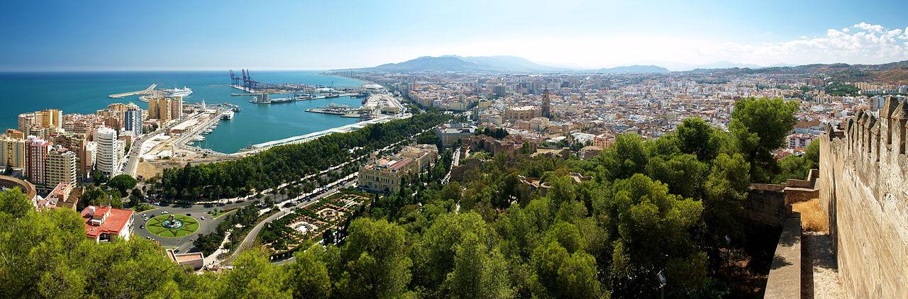 Málaga desde Gibralfaro. Pincha en la foto para ampliar