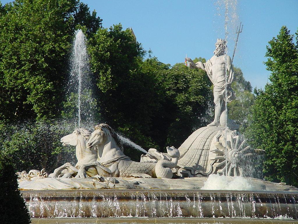 Fuente de Neptuno en Madrid. Por Dirección General de Turismo. CAM.
