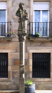 Peregrino en Pontecesures (Pontevedra). Por Silvia Núñez.