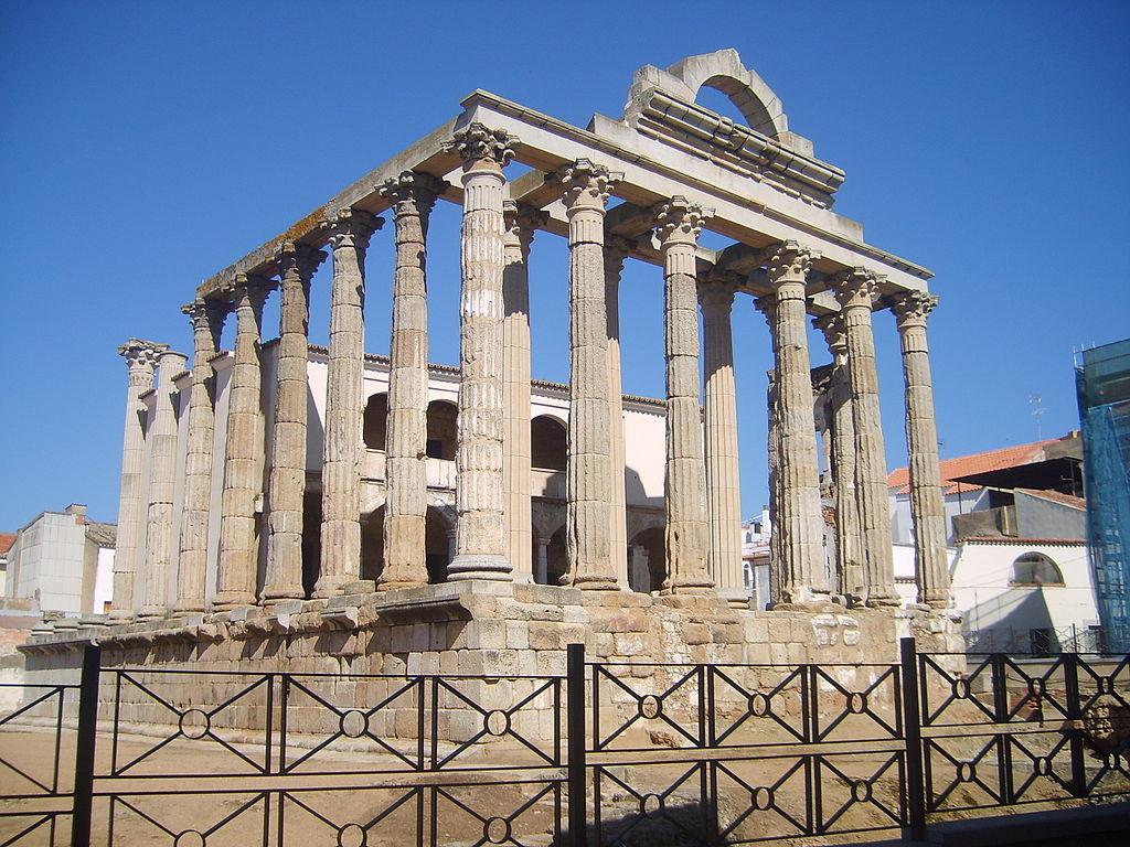 Templo de Diana en Mérida. Por DarkEngel1.