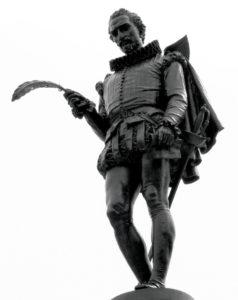 Miguel de Cervantes en Alcalá de Henares.