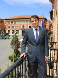 Gabriel, en la sede de la Abogacía del Estado de Teruel