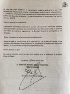 Instrucción de 25 de octubre de 2016: comunicaciones electrónicas entre notarios, registradores y la DGRN