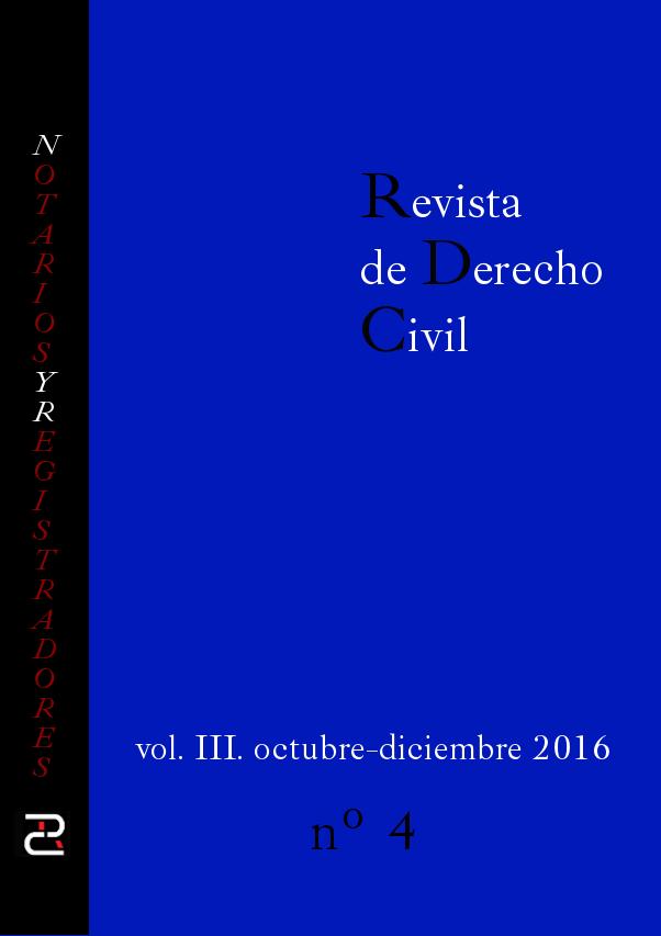 Revista de Derecho Civil Volumen III Número 4.