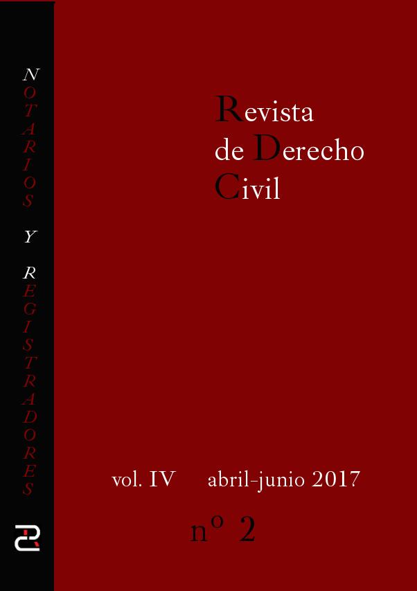 Revista de Derecho civil. Volumen IV. Número 2