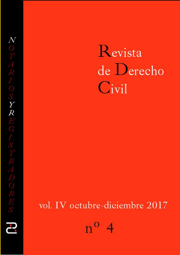 Revista de Derecho civil. Volumen IV. Número 4