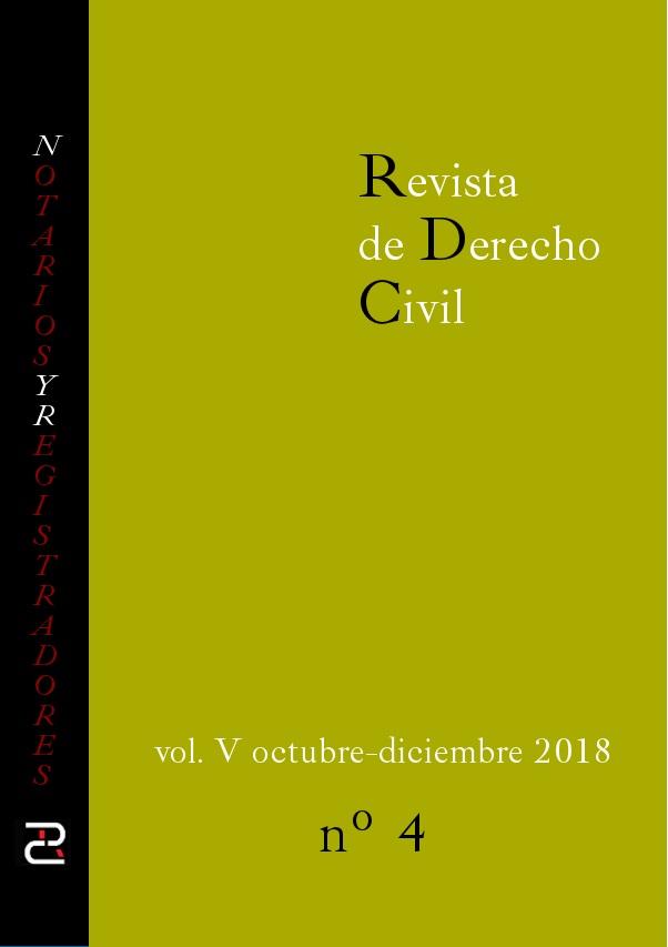 Revista de Derecho civil. Volumen V. Número 4