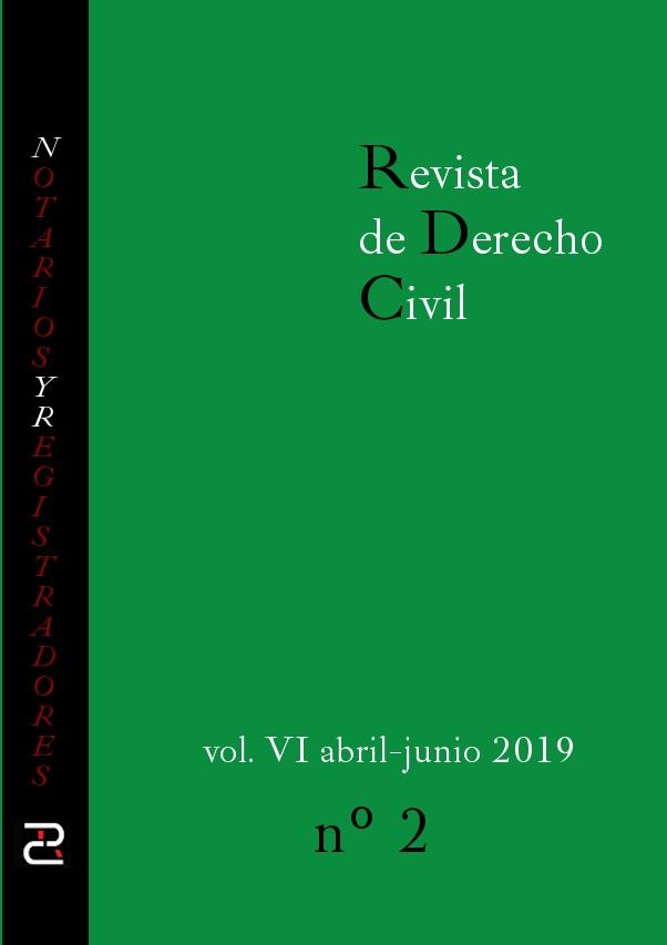 Revista de Derecho civil. Volumen VI. Número 2