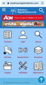 Nueva versión móvil de notariosyregistradores.com