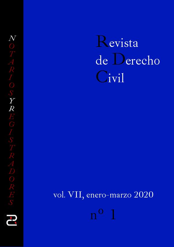 Revista de Derecho civil. Volumen VII. Número 1