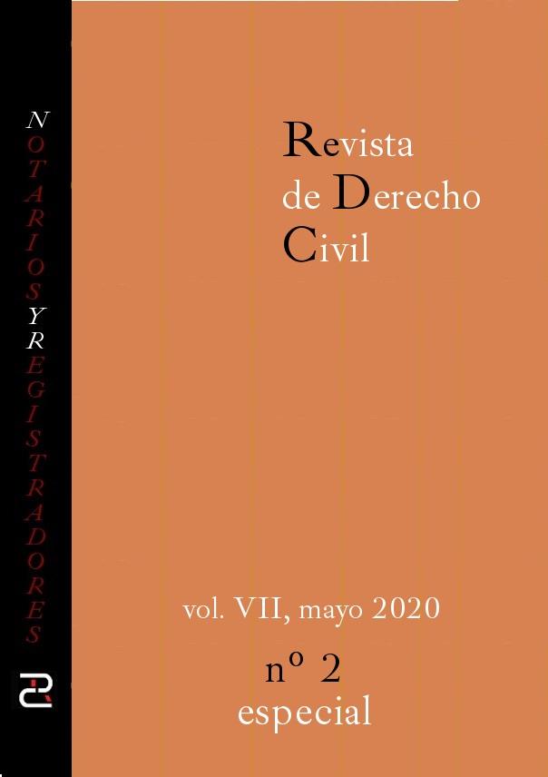 Revista de Derecho civil. Número especial: normativa internacional contratos civiles y Covid-19