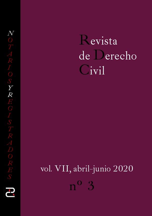 Revista de Derecho Civil Abril - Junio de 2020.