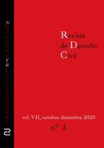Revista de Derecho Civil. Octubre - Diciembre de 2020.