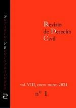 Revista de Derecho Civil. Enero - Marzo de 2020.
